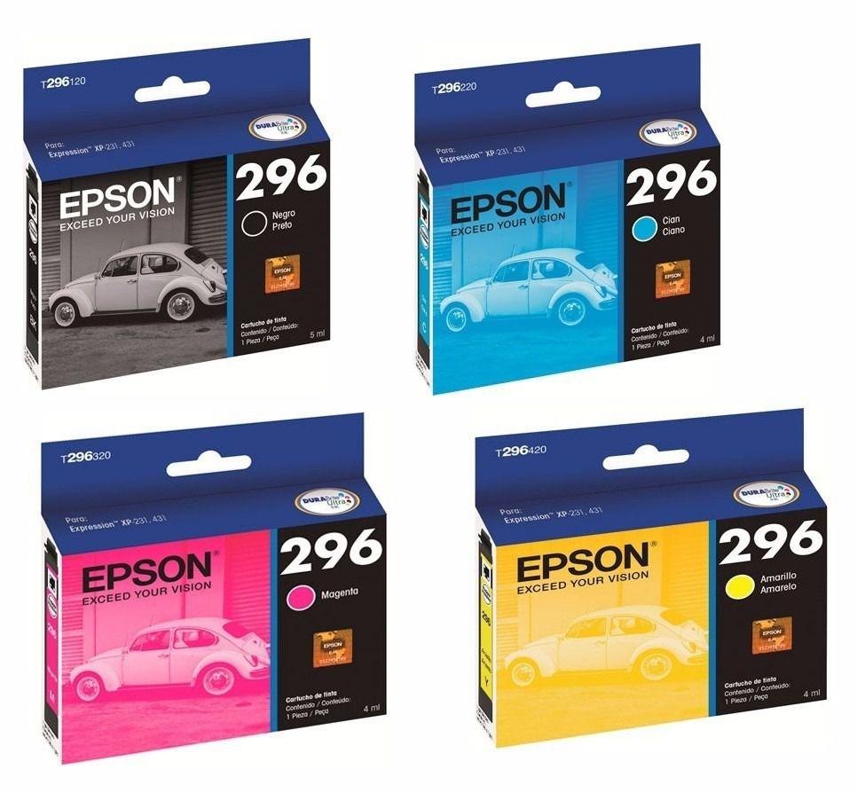 kit de 4 cartuchos EPSON 296 T296 para EPSON Expression XP-231 XP-431