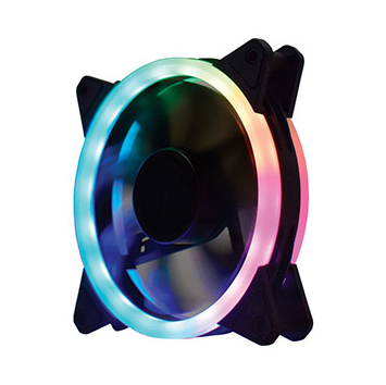 Kit Fan 3 Cooler ARGB Slim Ring AF-JI225 com fita LED Controle