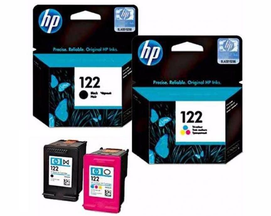 Kit HP 122 Cartucho 1 Preto E 1 Colorido Para 1000 2050 3050