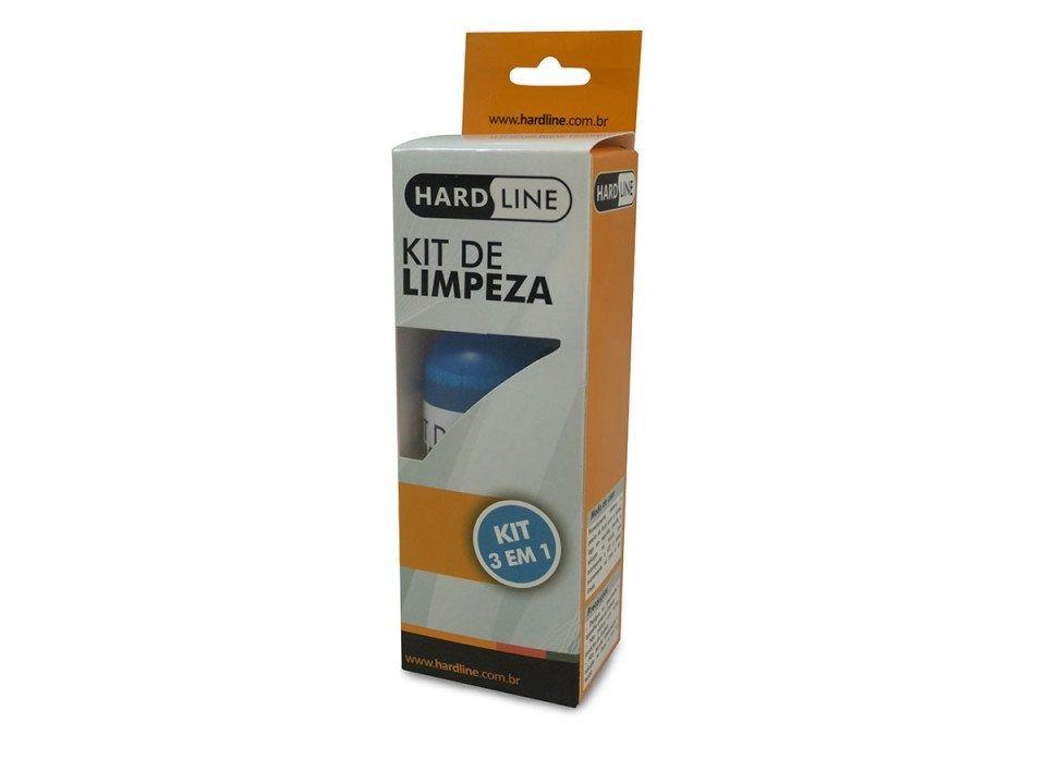 KIT Limpa Telas para TV Led Lcd Monitores Celular Tablet Hardline KCL-1014