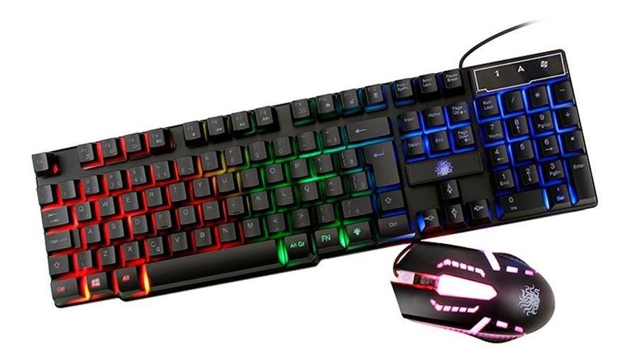 Kit Teclado e Mouse Gamer com LED RGB Nemesis Start ABNT
