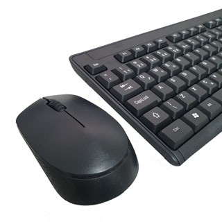 Kit Teclado e Mouse Sem Fio Preto KMEX KA-S229 MA-A733