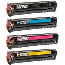 Kit Toner HP CB540A Preto CB541A Ciano CB542A Amarelo CB543A Magenta para CP1510 CM1312 Compatível