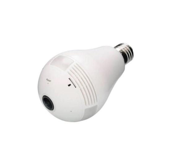 Lâmpada com Câmera de Segurança Espiã Oculta IP Wi-Fi Sem Fio VRCAM