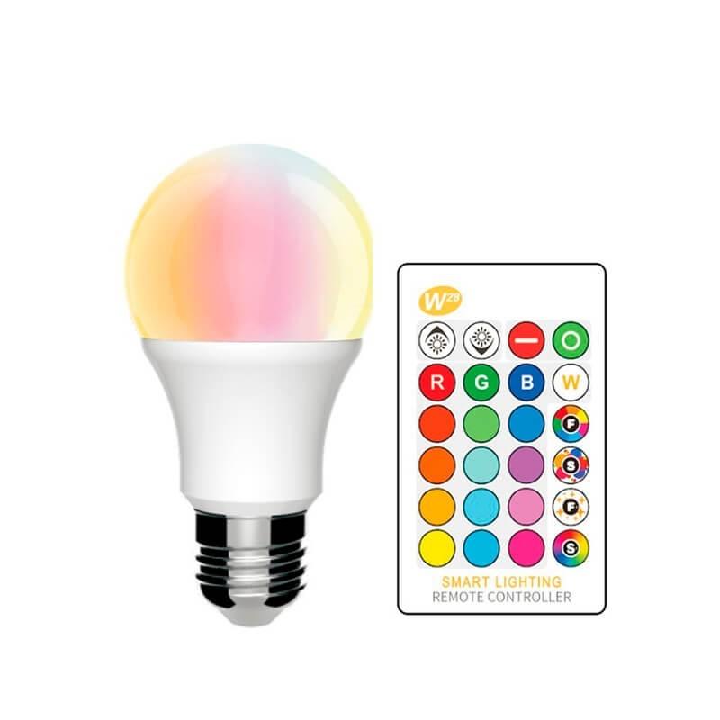 Lâmpada LED Multicolor RGB com controle remoto 7W
