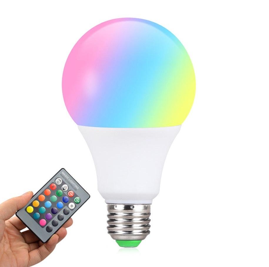 Lâmpada LED Multicolor RGB com controle remoto 10W