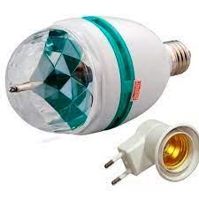 Lâmpada LED RGB para Festa com Adaptador de Tomada Bola maluca
