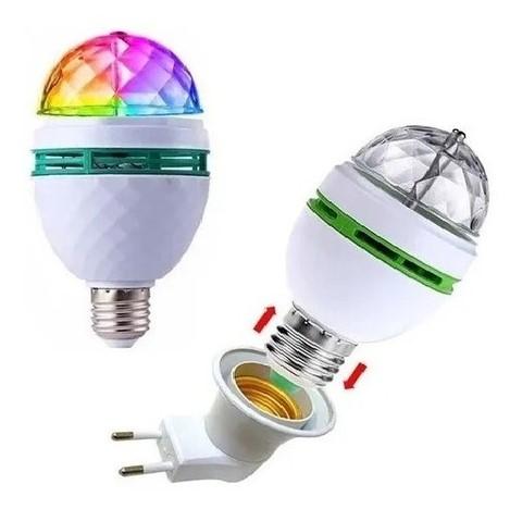 Lâmpada RGB para Festa com Adaptador de Tomada W998 LuaTek