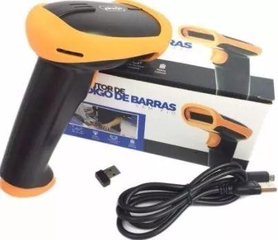 Leitor Scanner De Código Barra Laser Sem Fio Wireless Usb KP-1018