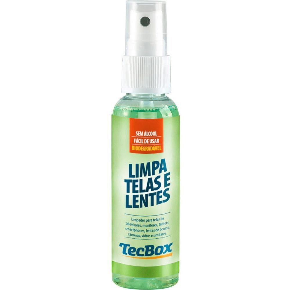Limpa Telas e Lentes TecBox 60ml com Flanelas