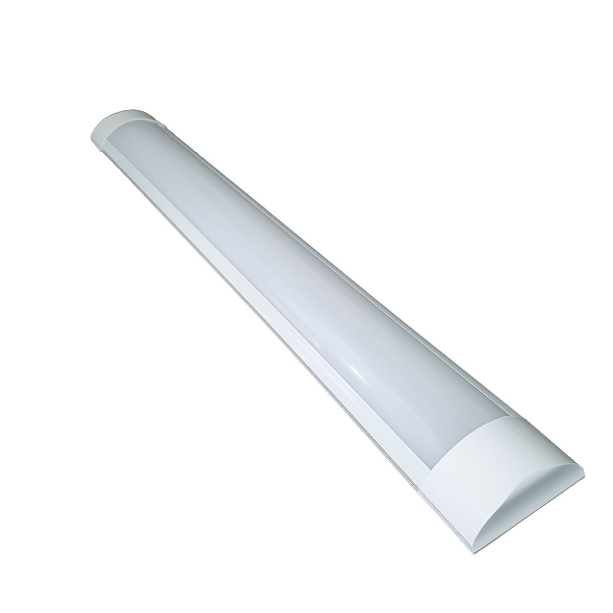 Luminária Tubular LED Flat 18w 60cm 6500k Bivolt Calha Sobrepor