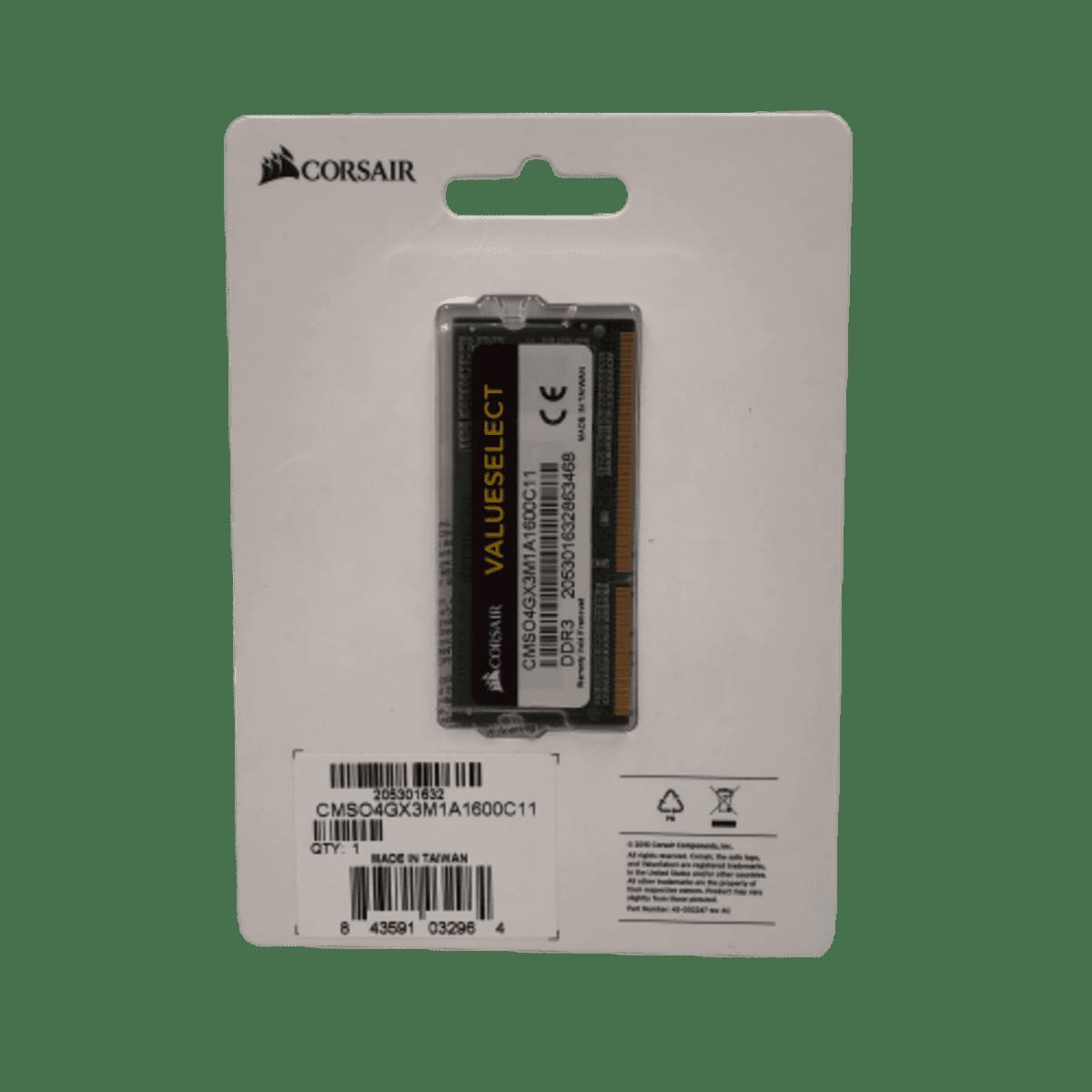 Memória para Notebook 4GB DDR3 1600 CMSO4GX3M1A1600C11 Corsair
