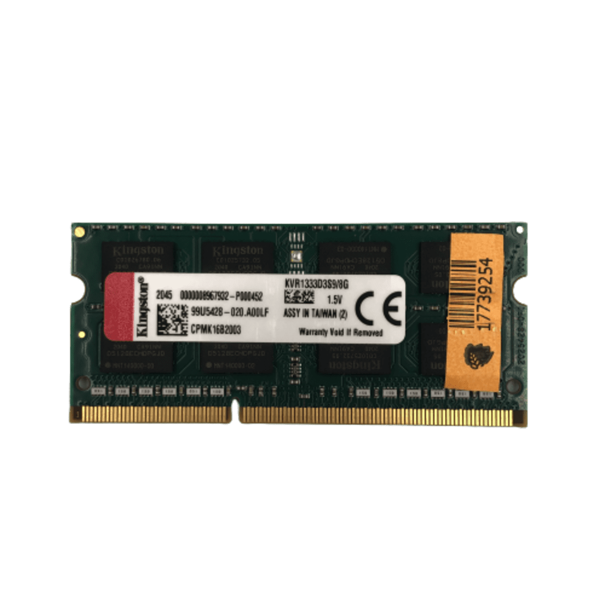 Memória para Notebook 8GB DDR3 1333 KVR1333D3S9/8G Kingston