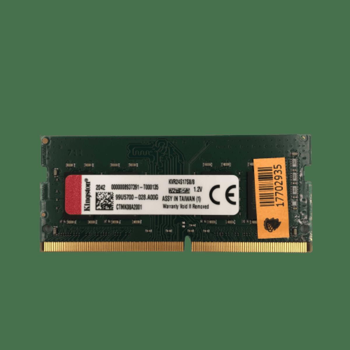 Memória para Notebook 8GB DDR4 2400 KVR24S17S8/8 Kingston