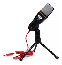 Microfone Condensador de Mesa com Tripé para Gravações KP-917 Knup