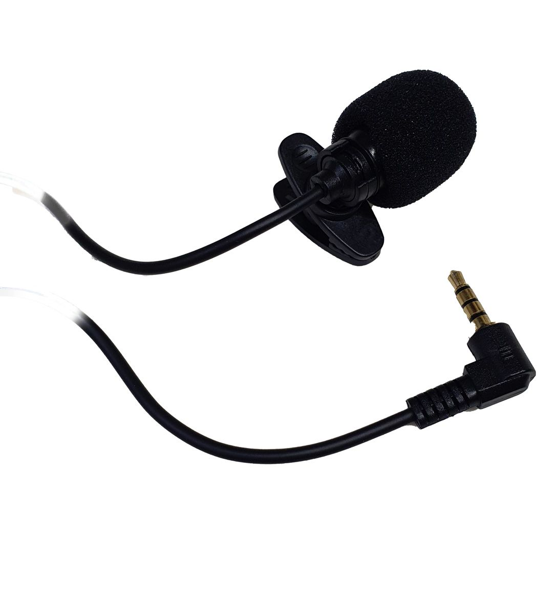 Microfone de Lapela para celular Android P3 Stereo 2m de cabo