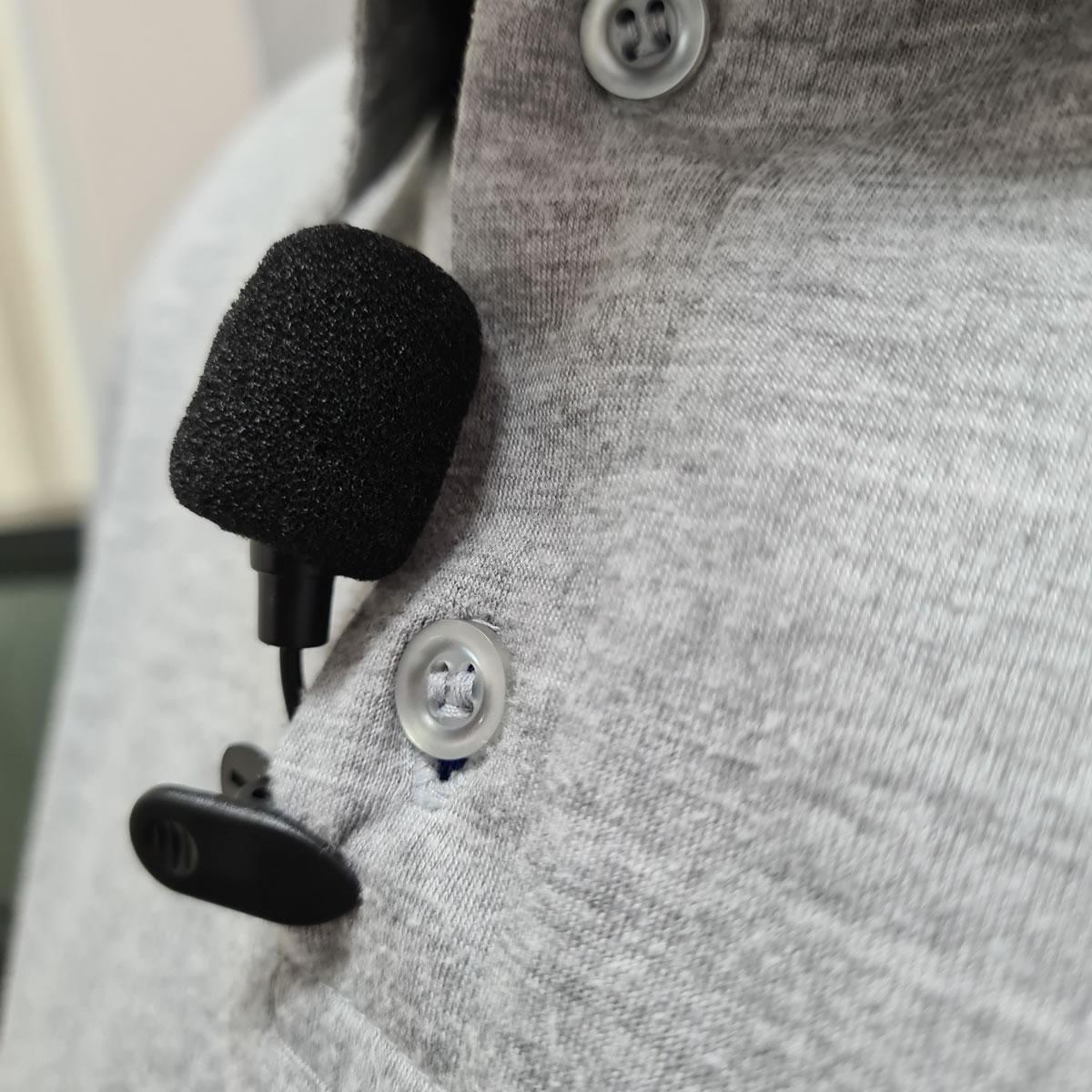 Microfone De Lapela Stereo P3 para Celular Smartphone notebook Vídeo Conferência