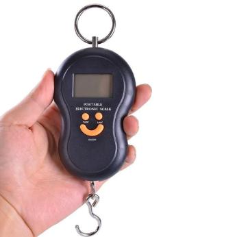 Mini Balança Portátil para Mala de Viagem até 10kg
