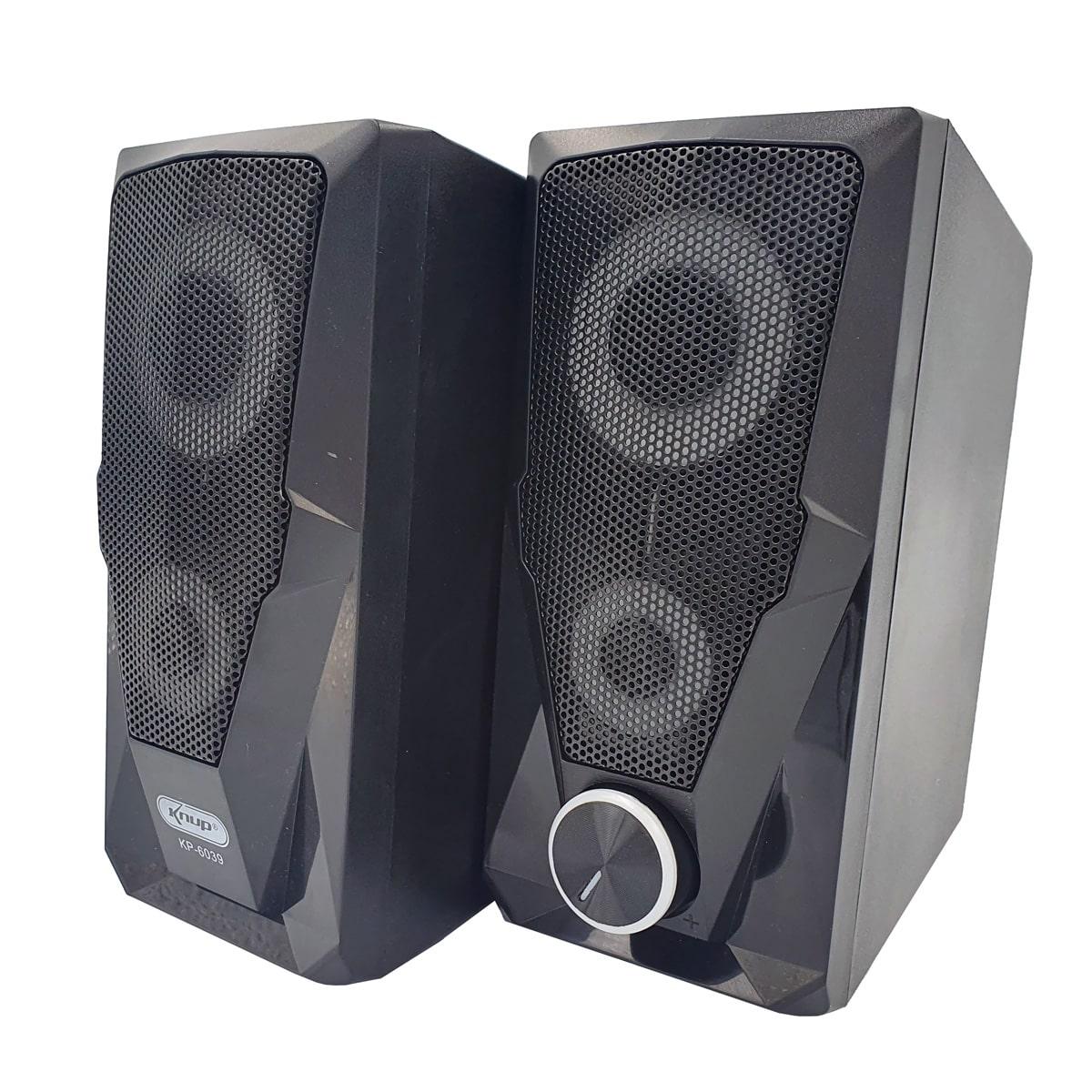 Mini Caixa de Som Alto Falante para PC KP-6039 Knup