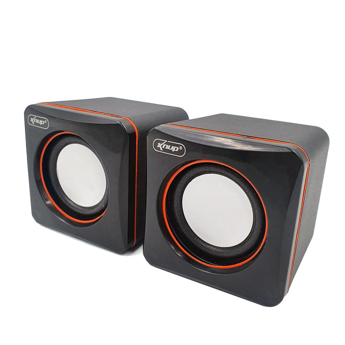 Mini Caixa de Som Auto Falante para PC e Notebook USB KP-600 Knup