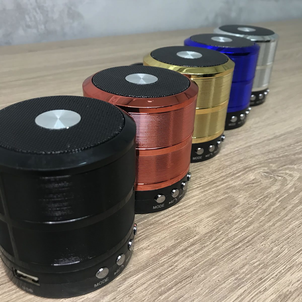 Mini Caixa de Som Portátil Bluetooth Azul WS-887
