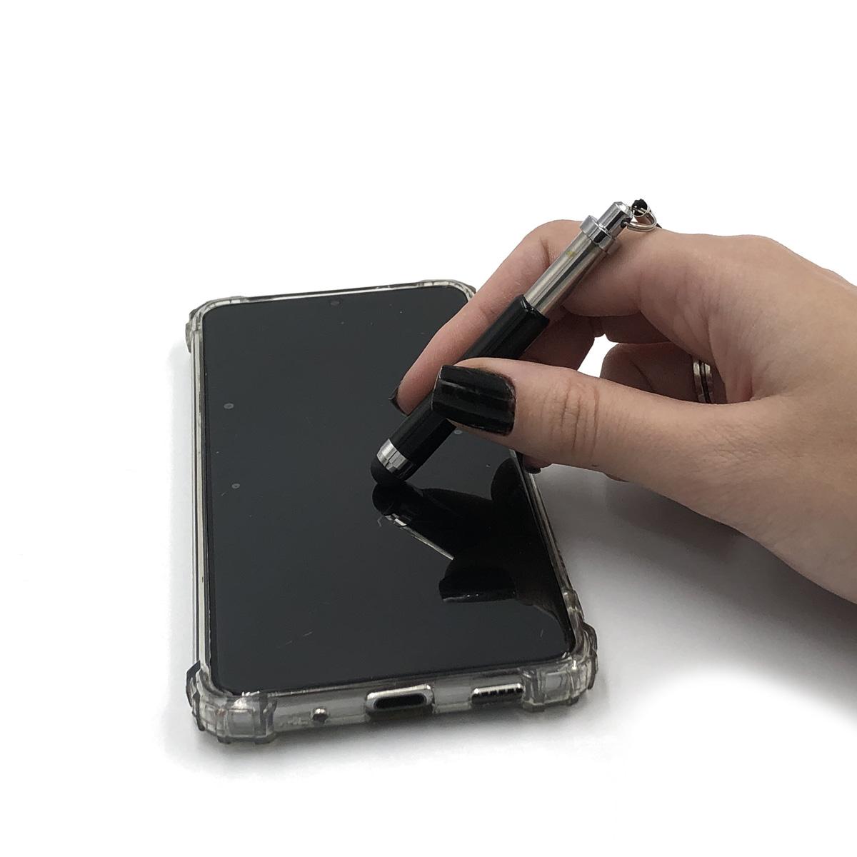 Mini Caneta Touch Screen para Smartphone Preta Tablet Universal