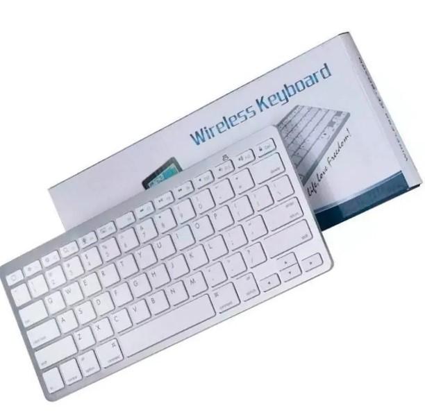 Mini Teclado Bluetooth Keyboard Branco