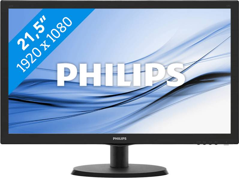 Monitor Philips 21.5pol LED 1920 X 1080 Full Hd Widescreen Hdmi Vga Vesa