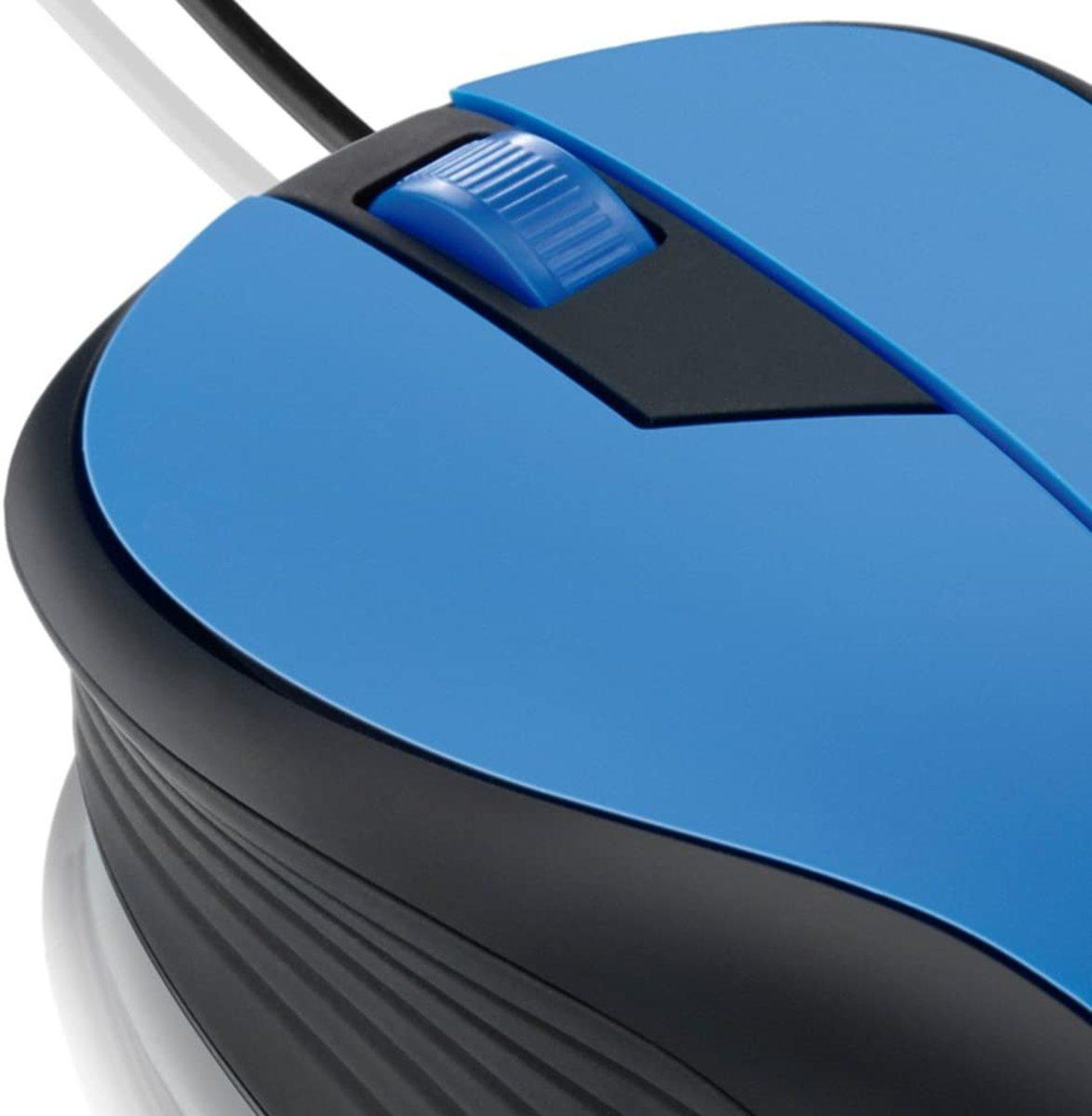 Mouse com Fio USB 1000dpi Azul M0226 Multilaser