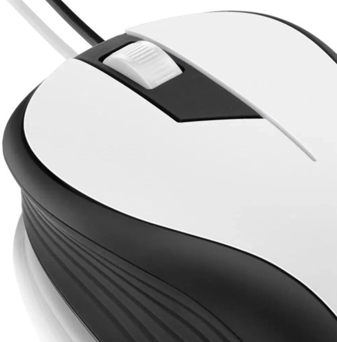 Mouse com Fio USB 1200dpi Branco M0224 Multilaser
