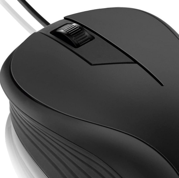 Mouse Emborrachado com Fio USB 1000dpi Preto M0222 Multilaser