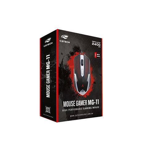 Mouse Gamer 6 botões 2400 DPI MG-11 C3 Tech