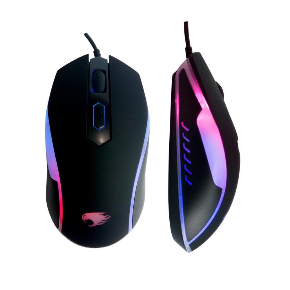 Mouse Gamer com LED USB 1200DPI Ajustável G-Fire MOG016