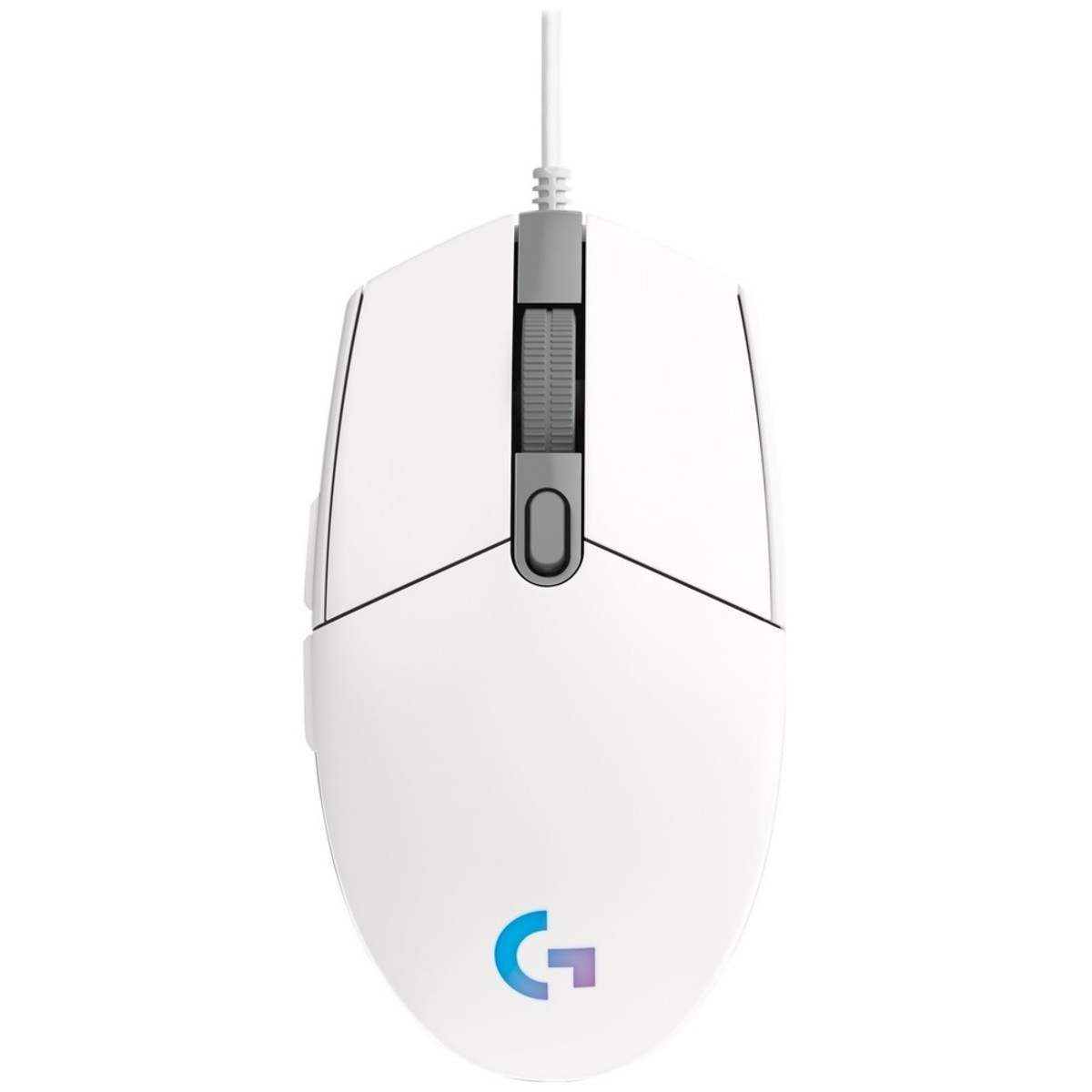 Mouse Gamer Lightsync RGB Branco USB G203 Logitech