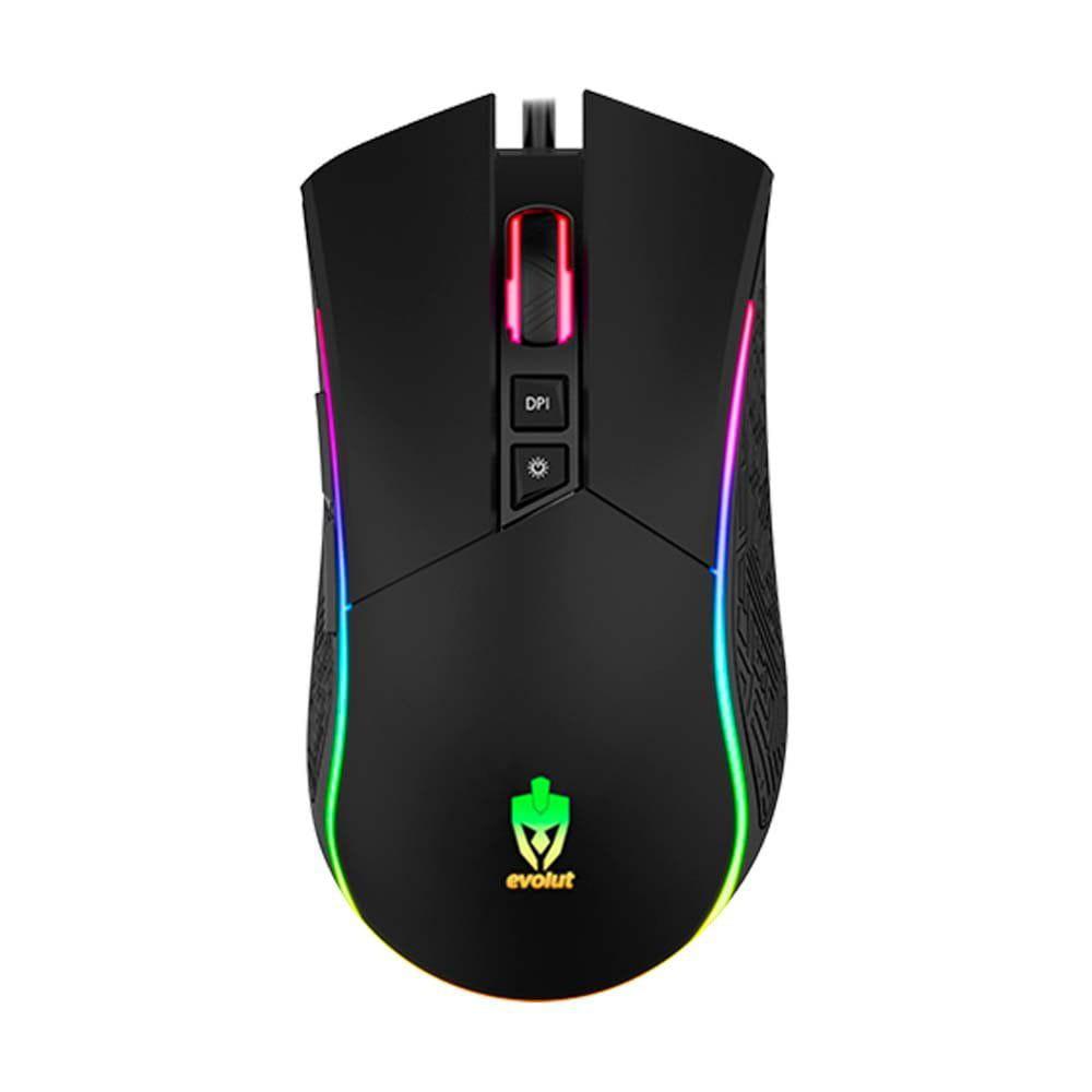Mouse Gamer RGB LED 4800dpi Skadi EG106 Evolut