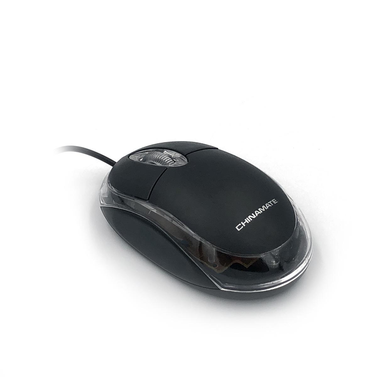 Mouse Óptico Com Fio 800dpi USB Preto CM10 Chinamate