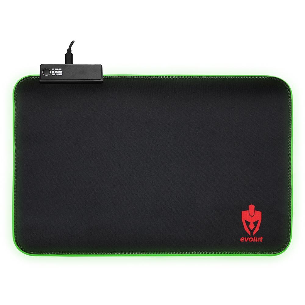 Mouse Pad Gamer Bordas RGB EVOLUT EG-410 USB