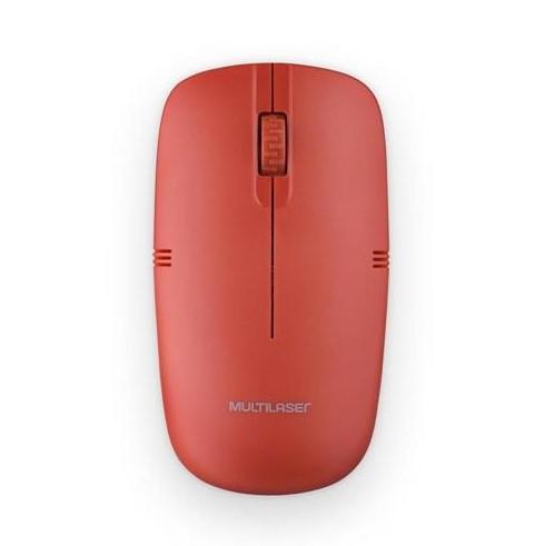 Mouse sem Fio USB 1200dpi Vermelho M0289 Multilaser
