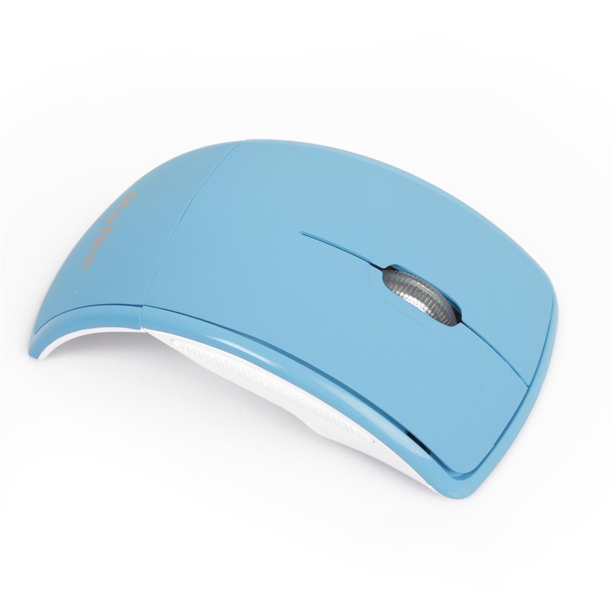 Mouse Sem Fio Dobrável Azul Kolke