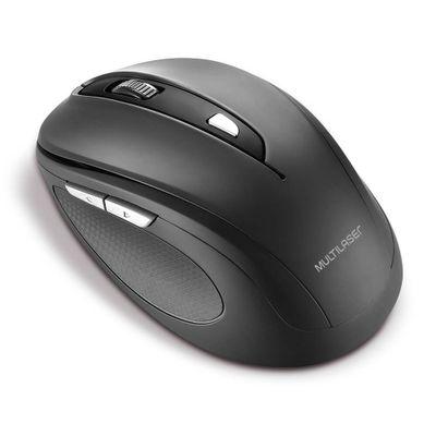 Mouse Sem Fio Multilaser 2.4 Ghz Comfort 6 Botões Preto Usb - MO237
