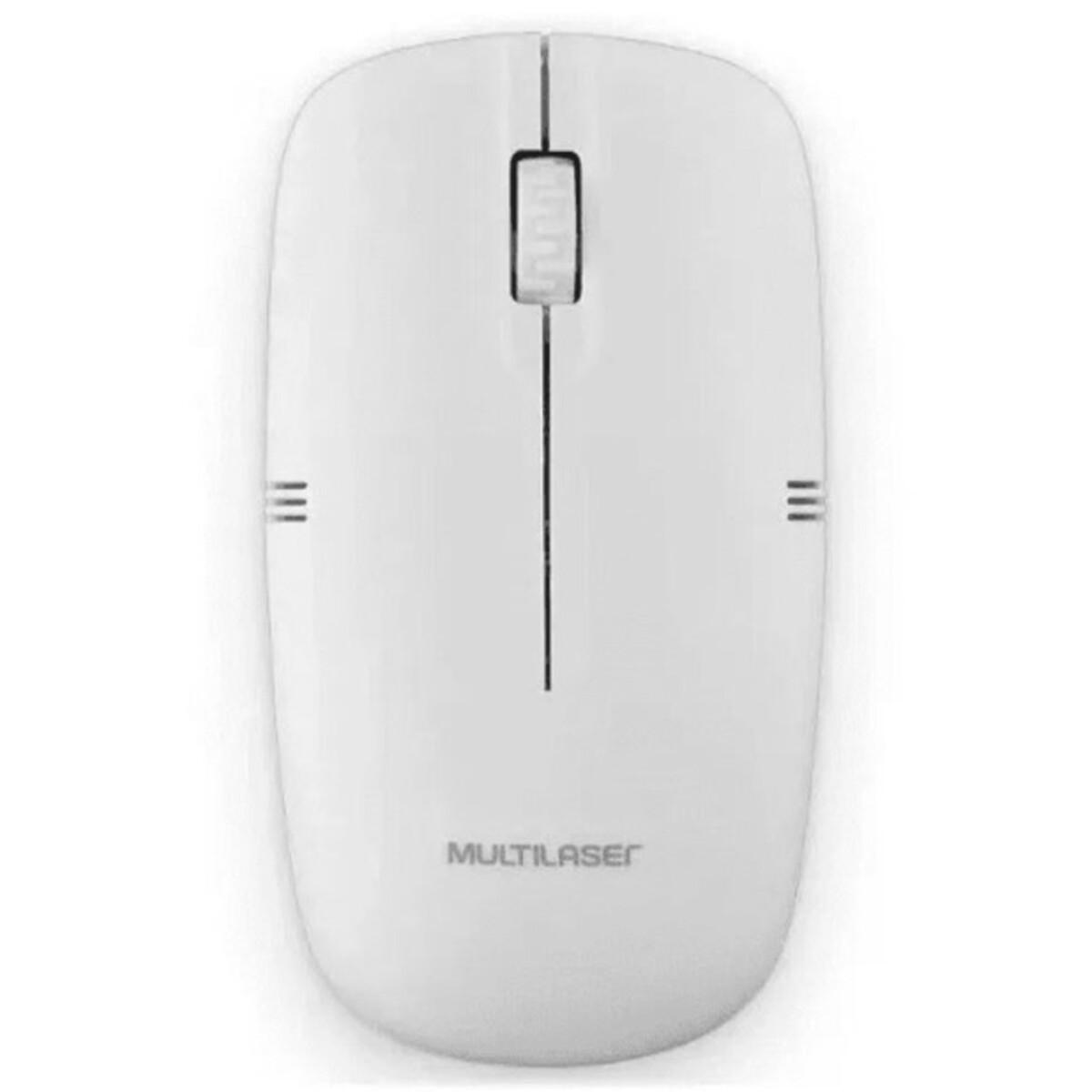 Mouse sem Fio USB 1200dpi Branco M0286 Multilaser