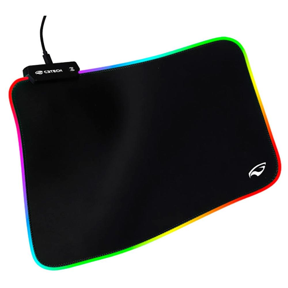Mousepad Mouse Pad Gamer Com LED RGB Grande 350x255mm MP-G2100BK