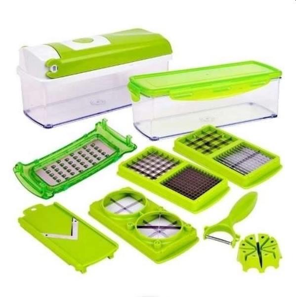 Kit Processador e Triturador de Alimentos Portátil Multi uso para Legumes e Verduras