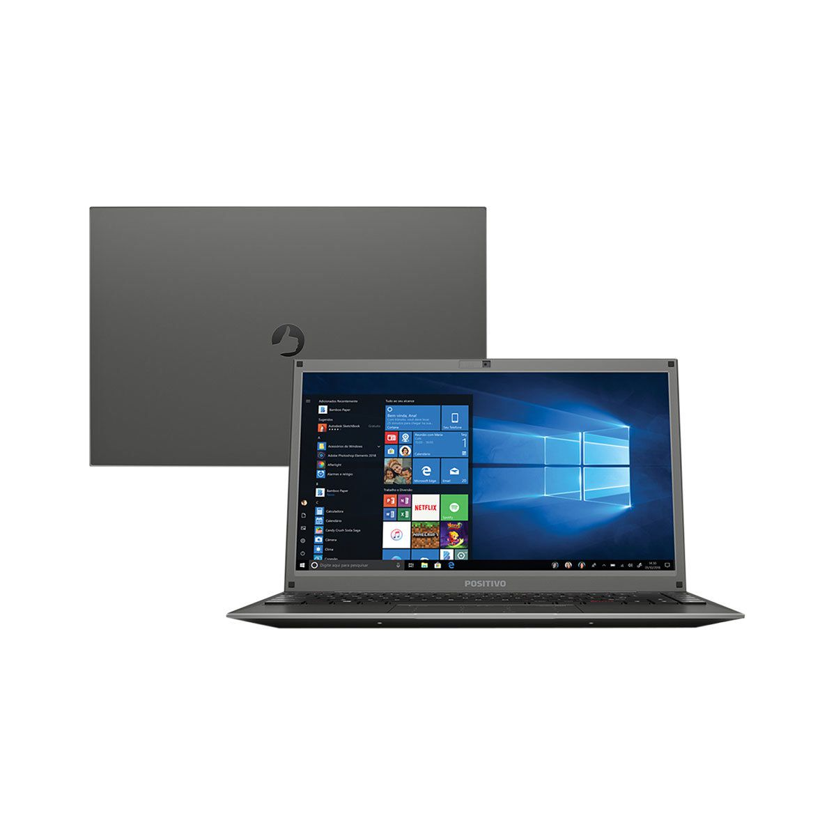 Notebook Dual Core 4Gb 500Gb Tela 14 webcam windows Motion C4500c