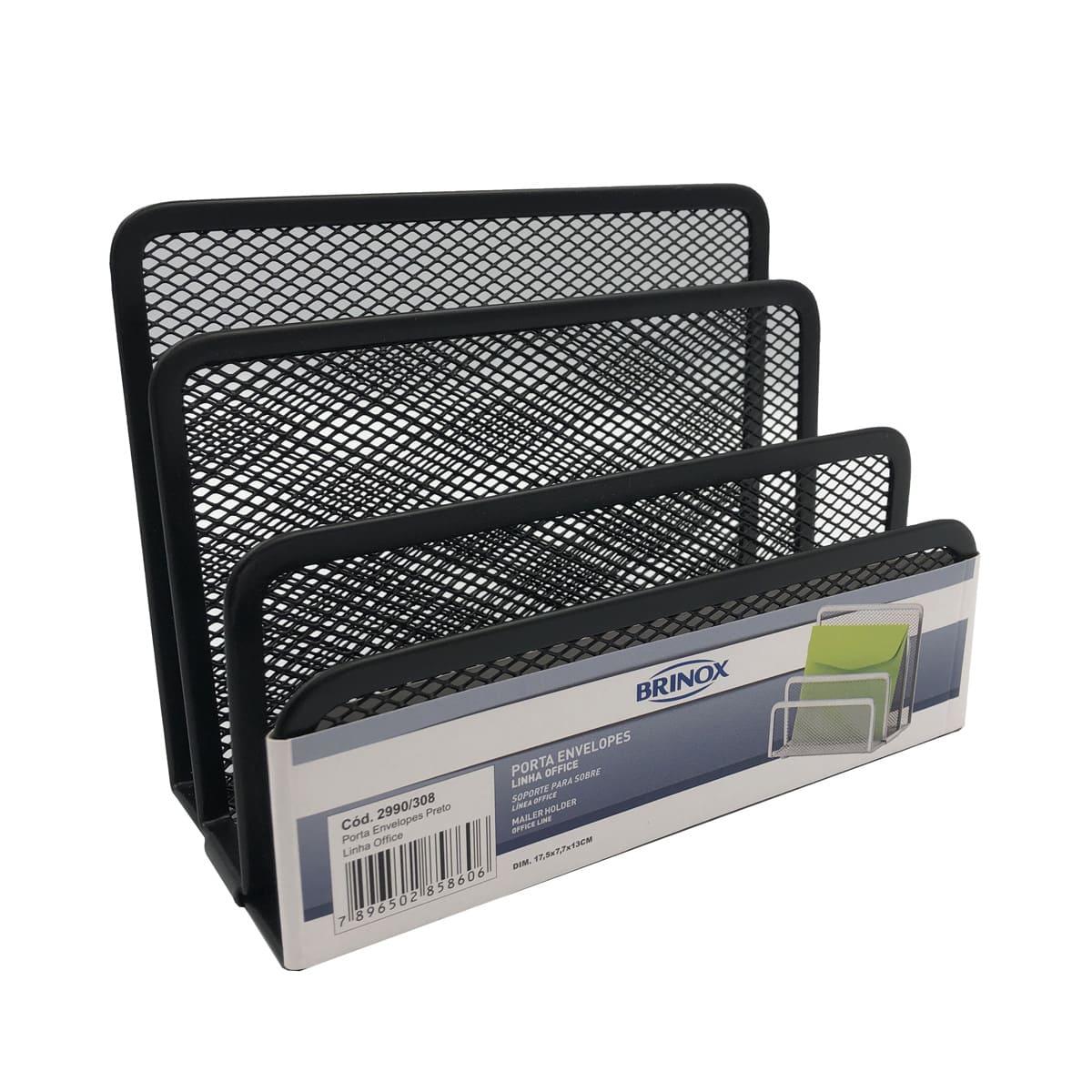 eanxOrganizador Porta Envelopes Office Preto 2990/308 Brinox