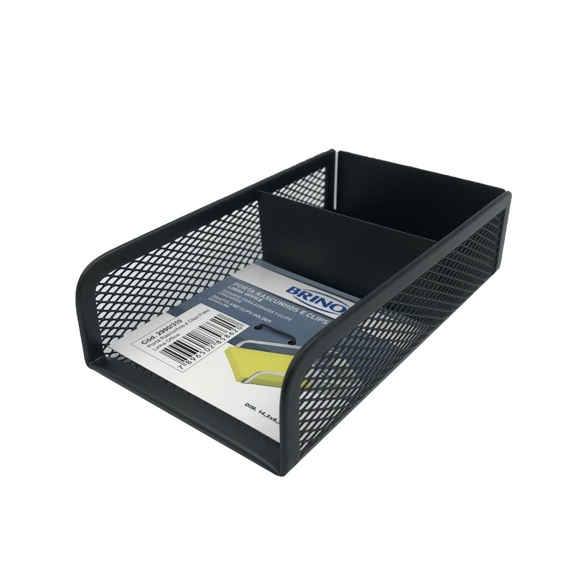 Organizador Porta Papel e Clips Office Preto 2990/310 Brinox
