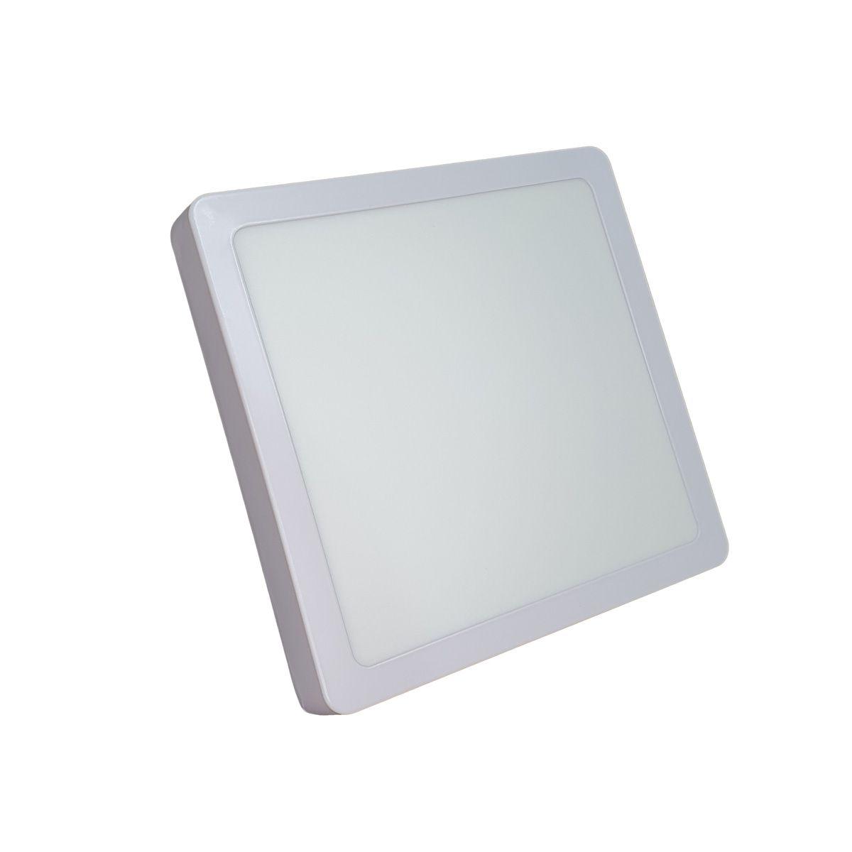 Luminária de LED sobrepor 18w Quadrada Luz Fria 6500K de Teto