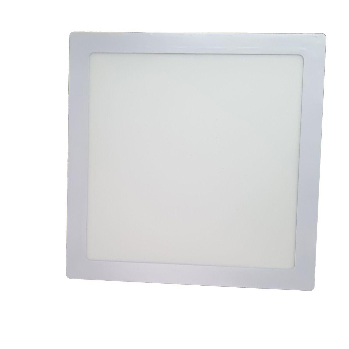 Painel Plafon Led 24w Quadrado Luminaria Embutir Branco Luz Fria