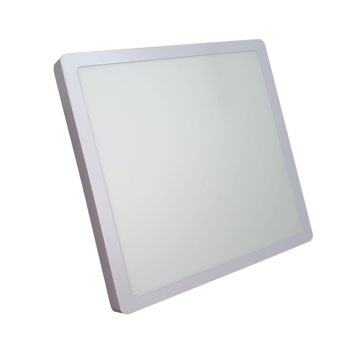Luminária de LED sobrepor 24w Quadrada Luz Fria 6500K de Teto