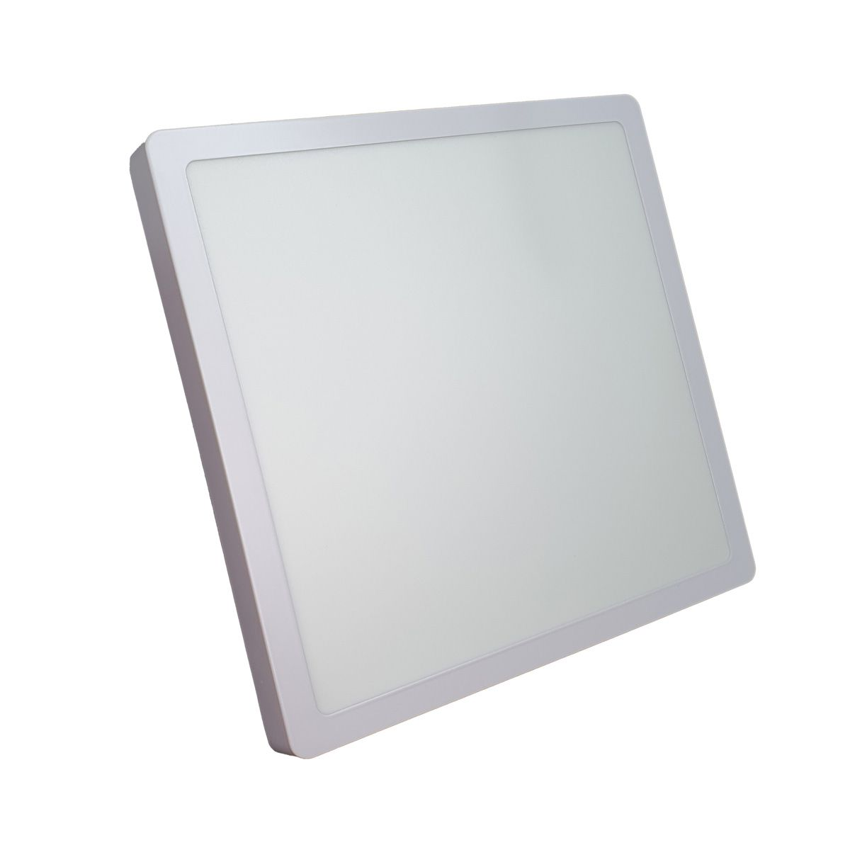 Painel Plafon Led 24w Quadrado Luminaria Sobrepor Branca Luz Quente